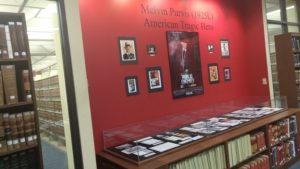Melvin Purvis display at Law Library