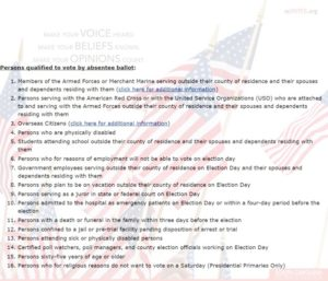 SC absentee voting rules