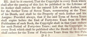excerpt from Copyright Act of 1842