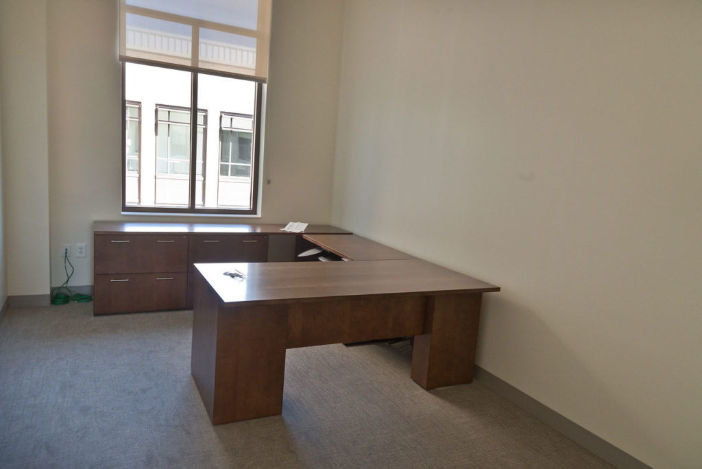 empty office in new law school building