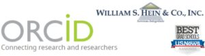Emblems for ORCID; William S. Hein, Inc.; and U.S. News and World Report